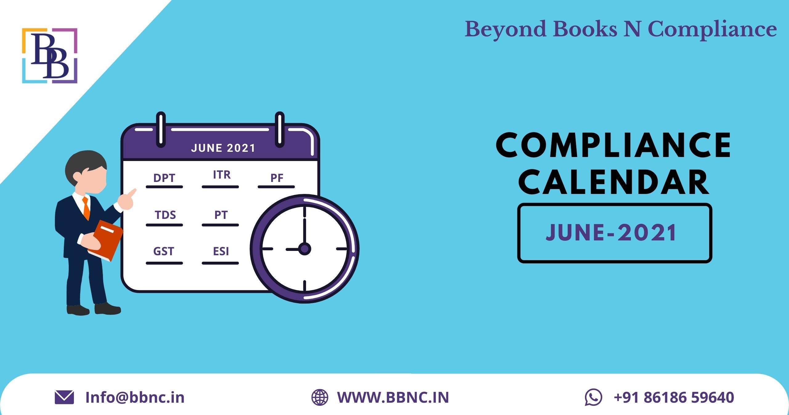 Compliance Calendar June 2021